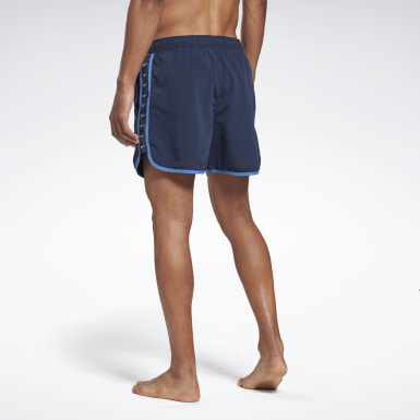 Men Swimming Blue Reebok Wyatt Swim Shorts