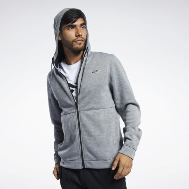 Men Training Grey Workout Ready Hoodie