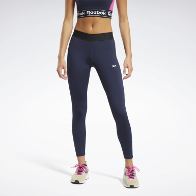 Mallas Training Essentials Linear Logo Azul Mujer Fitness & Training