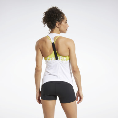 Women Training White CrossFit® ACTIVCHILL Tank Top