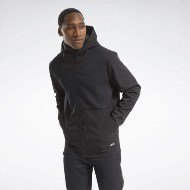 Men Montanhismo Black Thermowarm Deltapeak Full-Zip Control Hoodie