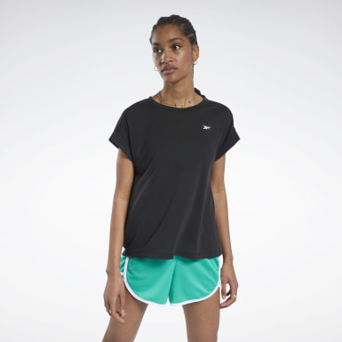 Women Hiking Black Workout Ready Supremium Detail Tee