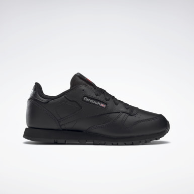 Kids Classics Black Classic Leather Shoes