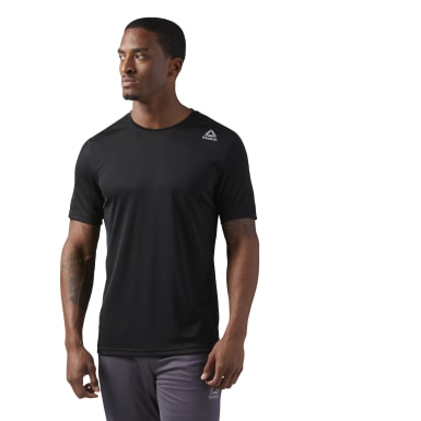 Men Fitness & Training Black Training T-Shirt