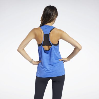 Women Yoga Blue ACTIVCHILL Athletic Tank Top