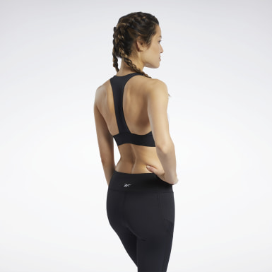 Kvinder Cycling Black Workout Ready Low-Impact Bralette