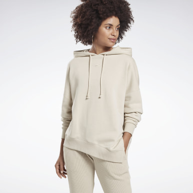 Women Studio Beige Studio Cozy Fashion Hoodie