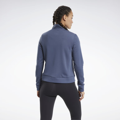 Women Training Blue Track Jacket