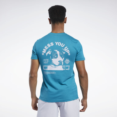 Heren Crosstraining Reebok CrossFit® Mess You Up T-shirt