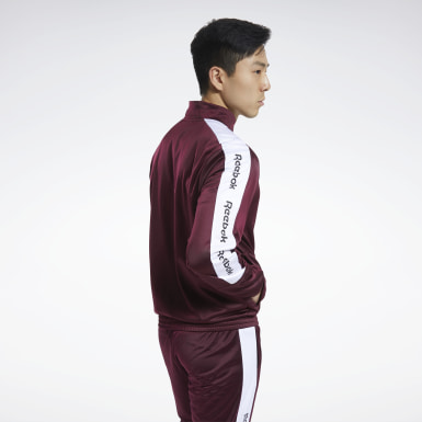 Men Fitness & Training Burgundy Training Essentials Track Jacket