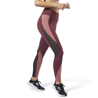 Women Training Red Reebok Lux Tights 2.0