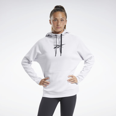 Frauen City Outdoor Quik Cotton Vector Hoodie Weiß