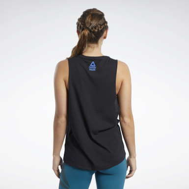 Women Fitness & Training Black Reebok CrossFit® Muscle Tank Top