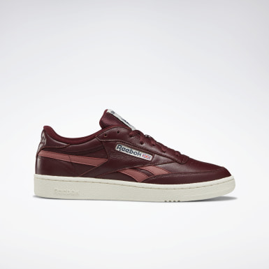 Men Classics Burgundy Club C Revenge Plus Men's Shoes