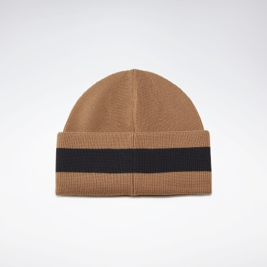 Women Casual Beige VB Beanie