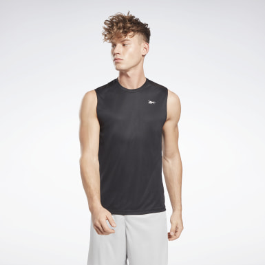 Men Training Black Workout Ready Sleeveless Tech T-Shirt