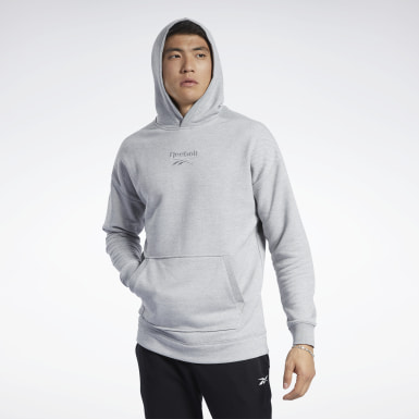 Sweat à capuche chiné Training Essentials Gris Hommes Fitness & Training