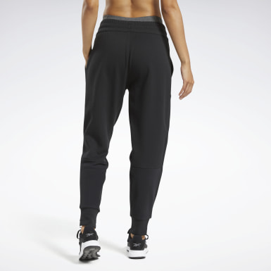 Women Yoga Black Quik Cotton Joggers