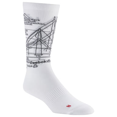Training White Active Enhanced Crew Socks