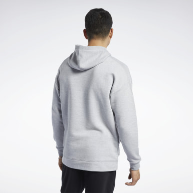 Herr Fitness & Träning Grå Training Essentials Mélange Hoodie