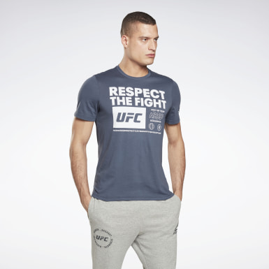 Remera UFC Fan Gear Text Azul Hombre Artes Marciales Mixtas