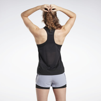 Frauen Trail Running Running Essentials Tanktop Schwarz