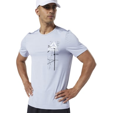 Remera estampada Workout Ready ACTIVCHILL Violeta Hombre Fitness & Training