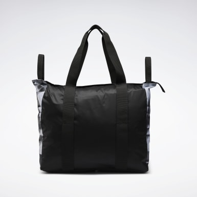 Women Fitness & Training Black Tech Style Graphic Tote