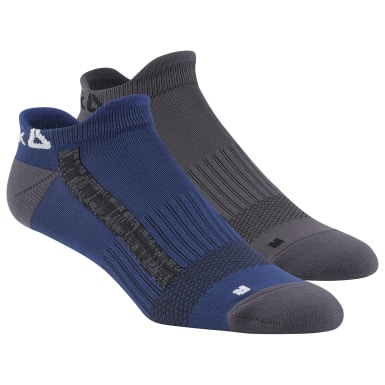 Men Training Blue Reebok Performance Low Cut Socks - 2 Pack