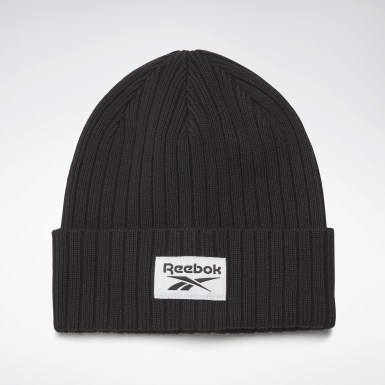 Running Active Foundation Logo Beanie Schwarz