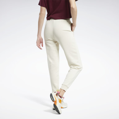 Women Classics White Classics French Terry Pants