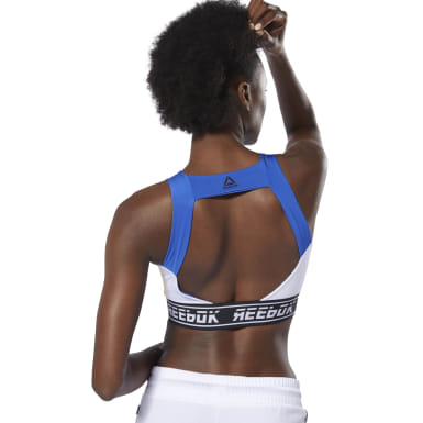 Women Fitness & Training Blue WOR Meet You There Bralette