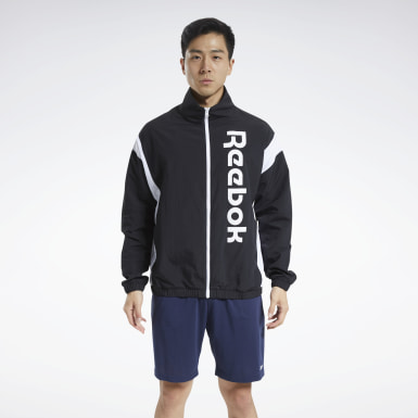 Men Fitness & Training Black Training Essentials Linear Logo Jacket
