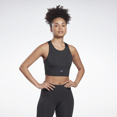 Women Trail Running Black Run High-Impact Bra