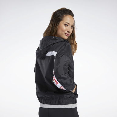 Women Fitness & Training Black Training Essentials Linear Logo Jacket