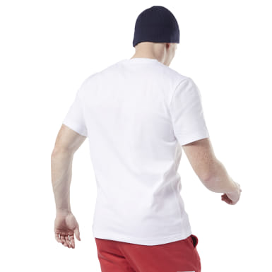 Männer Fitness & Training Cotton Crew T-Shirt Weiß