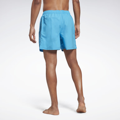 Men Swimming Turquoise Woven Swim Shorts