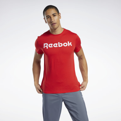 Men Training Red Graphic Series Linear Logo Tee
