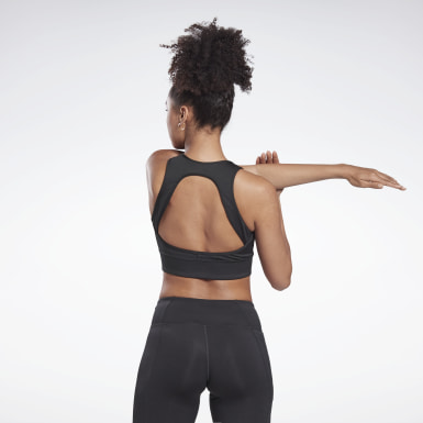 Women Running Black Run High-Impact Bra