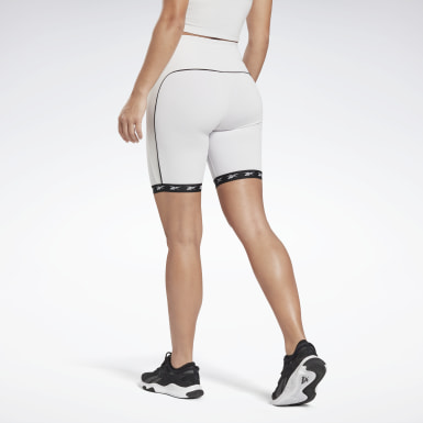 Dames Wielrennen Wit Studio Bike High-Intensity Short