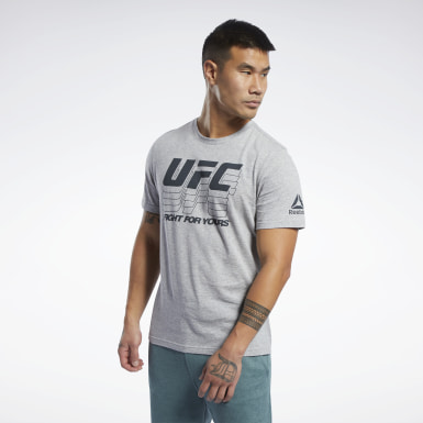 Men Combat Grey UFC Fan Gear Logo T-Shirt