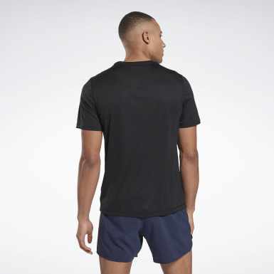 T-shirt Night Run Black Hommes Course