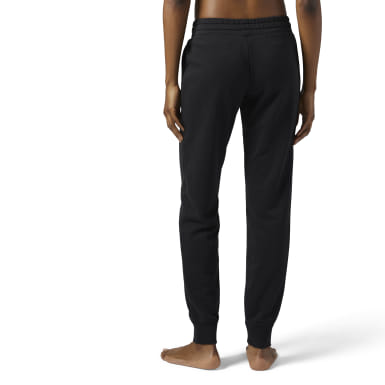 Pantaloni Elements French Terry Nero Donna Fitness & Training