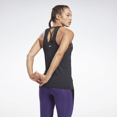 Women Yoga Black Activchill Athletic Tank Top