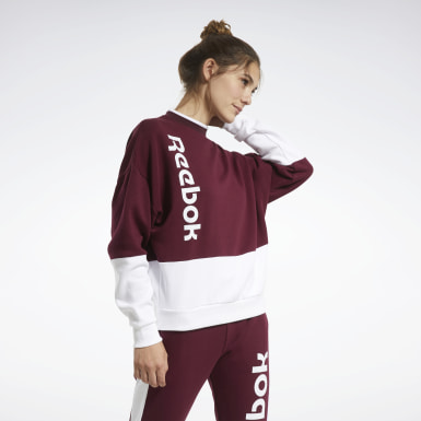 Women Fitness & Training Burgundy Training Essentials Logo Crew Sweatshirt