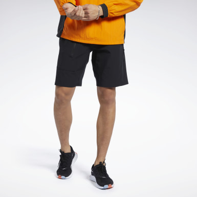 Men Training Black Stretch Woven Shorts