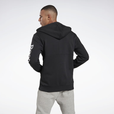 Herr Fitness & Träning Svart Training Essentials Linear Logo Hoodie