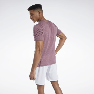 Men Training Burgundy ACTIVCHILL+COTTON Tee