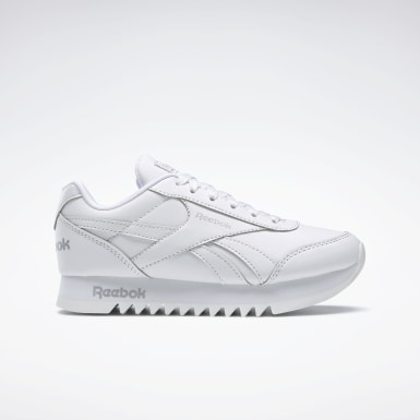 Kids Classics White Reebok Royal Classic Jogger 2.0 Platform Shoes