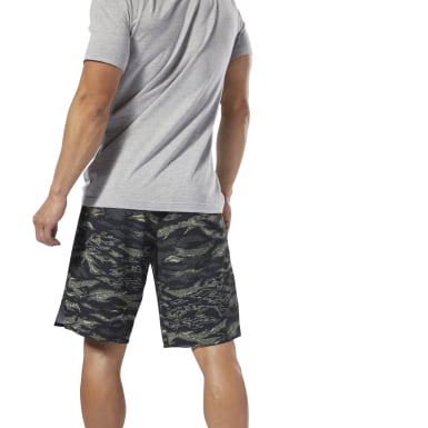 Men CrossFit Green Reebok CrossFit® Epic Camo Cordlock Shorts